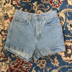 American Apparel Denim Shorts light wash
